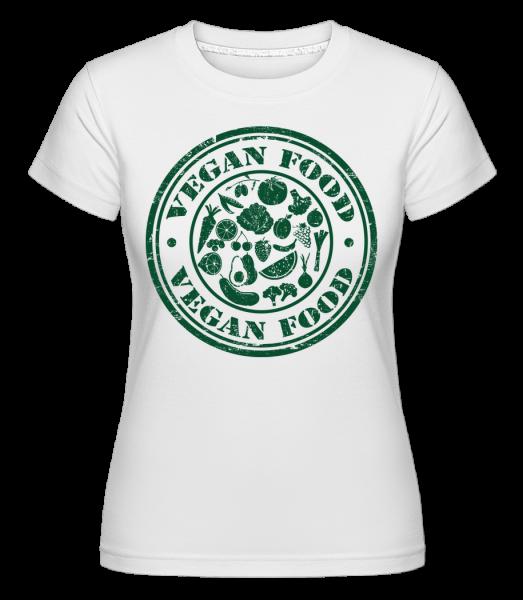 Vegan Food Sign - Shirtinator tričko pre dámy - Biela - Predné