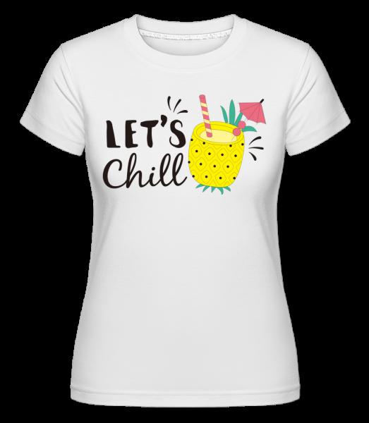 Dajme Chill - Shirtinator tričko pre dámy - Biela - Predné