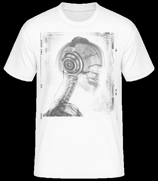 kostra Music - Pánske basic tričko - Biela - Predné