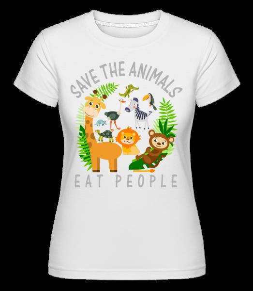 Save The Animals -  Shirtinator tričko pre dámy - Biela - Predné