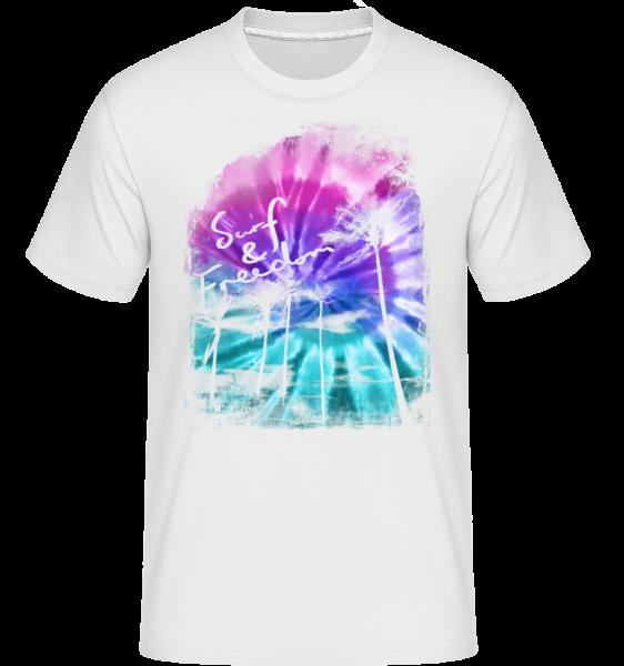 Surf And Freedom - Shirtinator tričko pre pánov - Biela - Predné