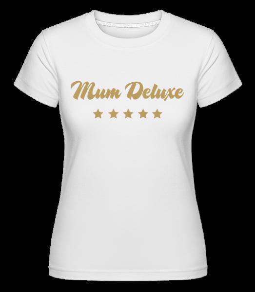 Mamička Deluxe - Béžová - Shirtinator tričko pre dámy - Biela - Predné