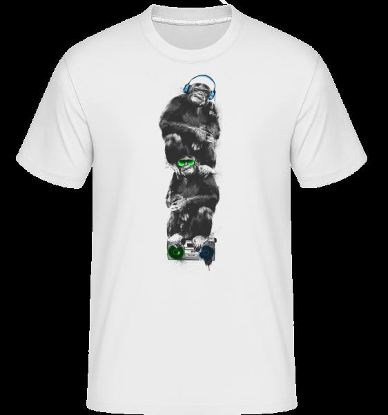 Hudobné Monkeys -  Shirtinator tričko pre pánov - Biela - Predné