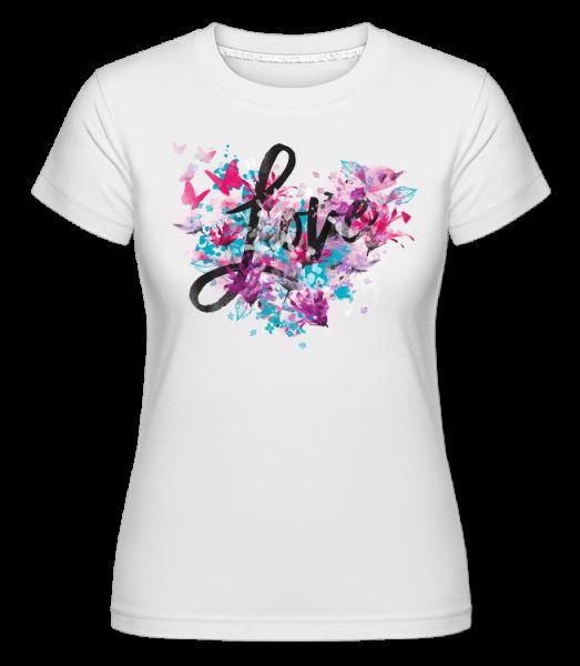 Love -  Shirtinator tričko pre dámy - Biela - Predné