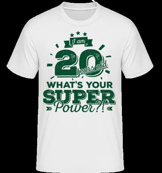20 Years Super Power -  Shirtinator tričko pre pánov - Biela - Predné