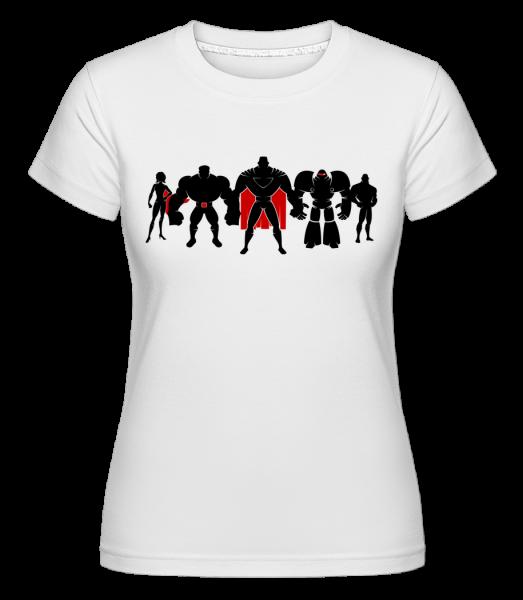 Superman League -  Shirtinator tričko pre dámy - Biela - Predné