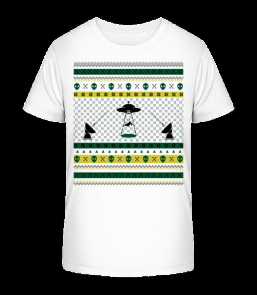 Alien Christmas - Detské Premium Bio tričko - Biela - Predné
