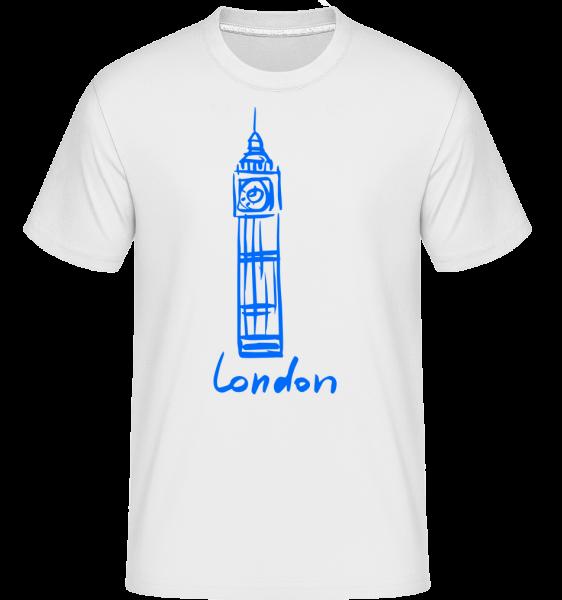London Tower Sign -  Shirtinator tričko pre pánov - Biela - Predné