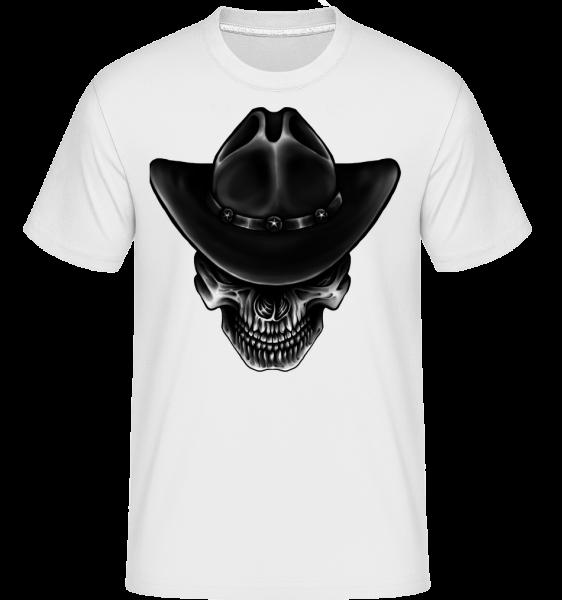 Cowboy Skull -  Shirtinator tričko pre pánov - Biela - Predné
