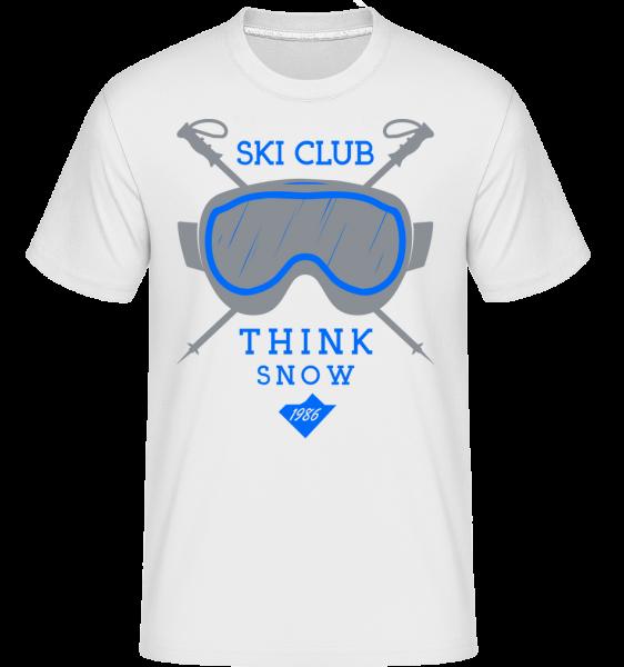 Ski Club Sign -  Shirtinator tričko pre pánov - Biela - Predné
