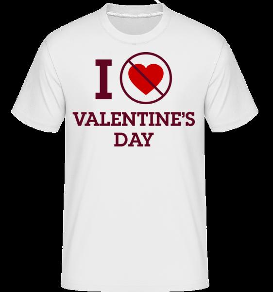 Deň nemám rád Valentína -  Shirtinator tričko pre pánov - Biela - Predné