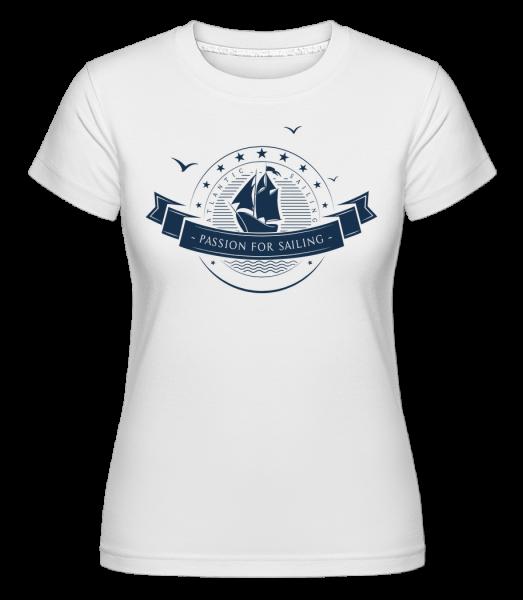 Passion For Sailing Logo -  Shirtinator tričko pre dámy - Biela - Predné