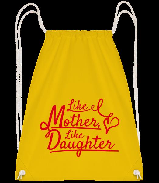 Like Mother Like Daughter - Drawstring batoh so šnúrkami - Žltá - Predné