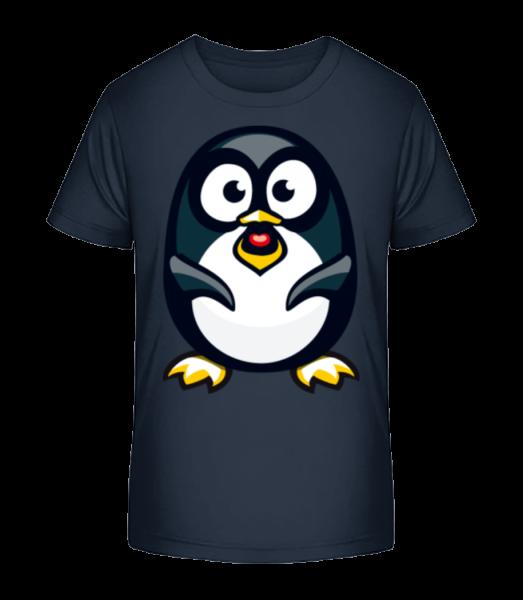 Love Penguin - Detské Premium Bio tričko - Namornícka modrá - Predné