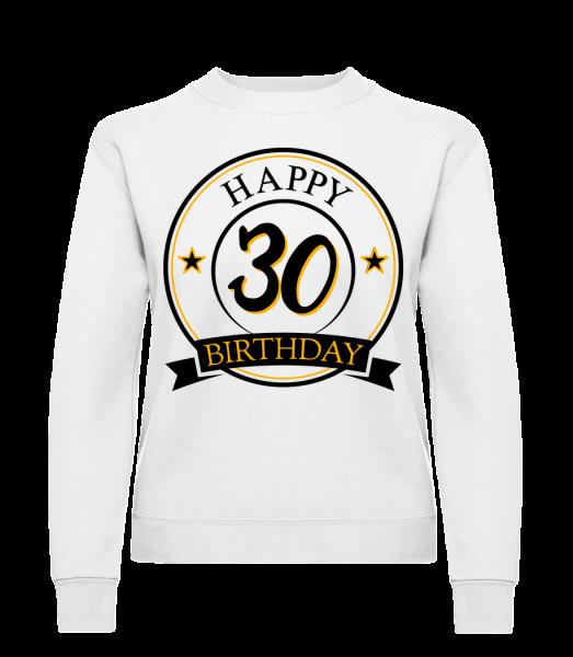 Happy Birthday 30 - Klasická mikina pre dámy sg - Biela - Predné
