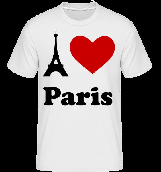 Milujem Paríž - Shirtinator tričko pre pánov - Biela - Predné