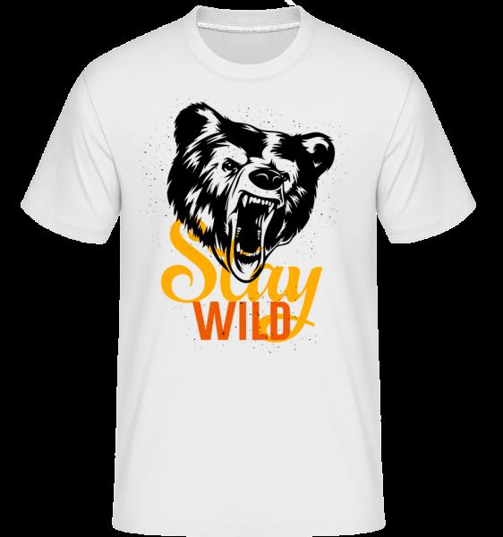 Zostaň divoký -  Shirtinator tričko pre pánov - Biela - Predné