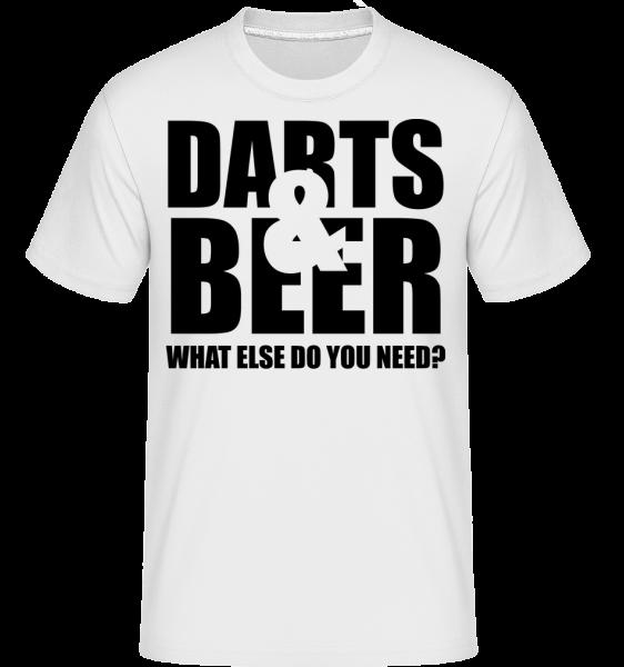 Šípky a pivo -  Shirtinator tričko pre pánov - Biela - Predné