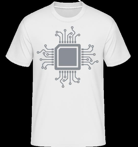 CPU Chip - Shirtinator tričko pre pánov - Biela - Predné
