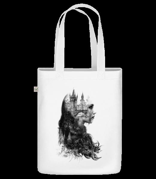 """Fantasy City Girl - Organická taška """"Earth Positive"""" - Biela - Predné"""