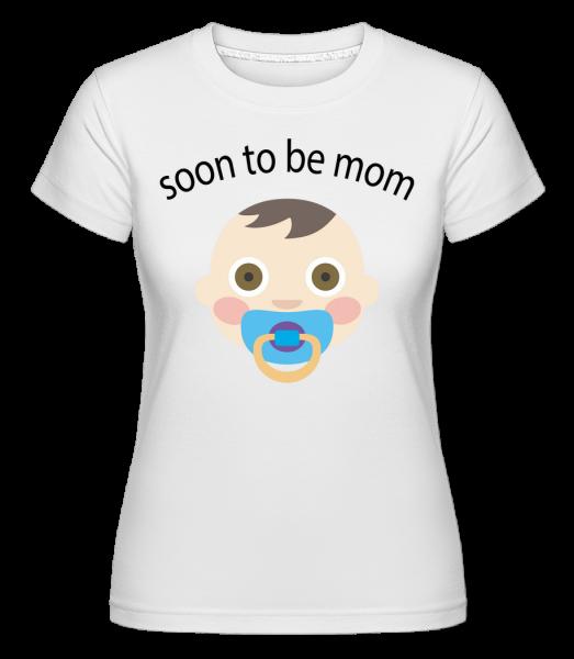 Bude čoskoro Mom - Shirtinator tričko pre dámy - Biela - Predné