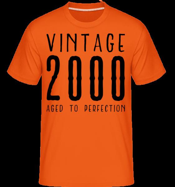 Vintage 2000 vo veku k dokonalosti - Shirtinator tričko pre pánov - Oranžová - Predné