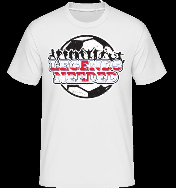 Futbalová Anglicko Legends Potrebný -  Shirtinator tričko pre pánov - Biela - Predné