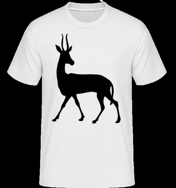 Shadow Deer Curious -  Shirtinator tričko pre pánov - Biela - Predné