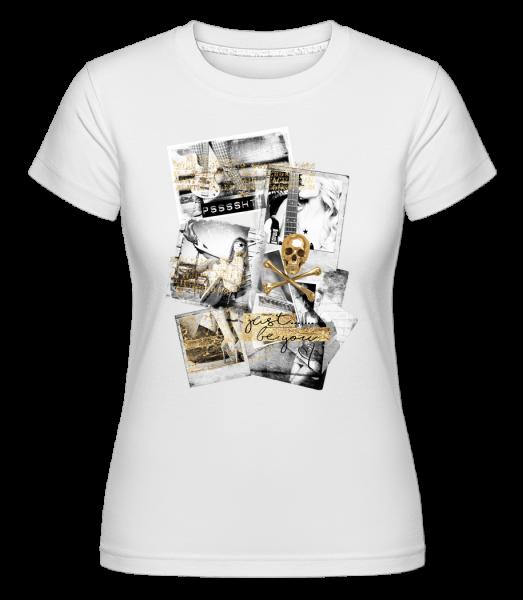 Golden Lifestyle -  Shirtinator tričko pre dámy - Biela - Predné