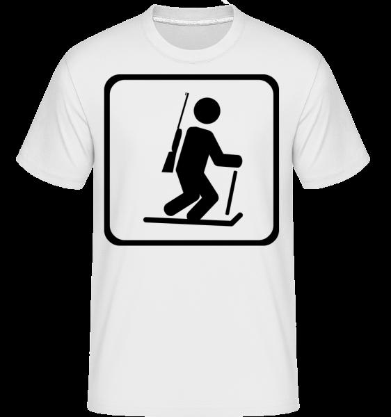 Biatlon Sign - Shirtinator tričko pre pánov - Biela - Predné