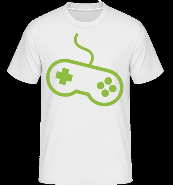Controller Herné konzoly -  Shirtinator tričko pre pánov - Biela - Predné