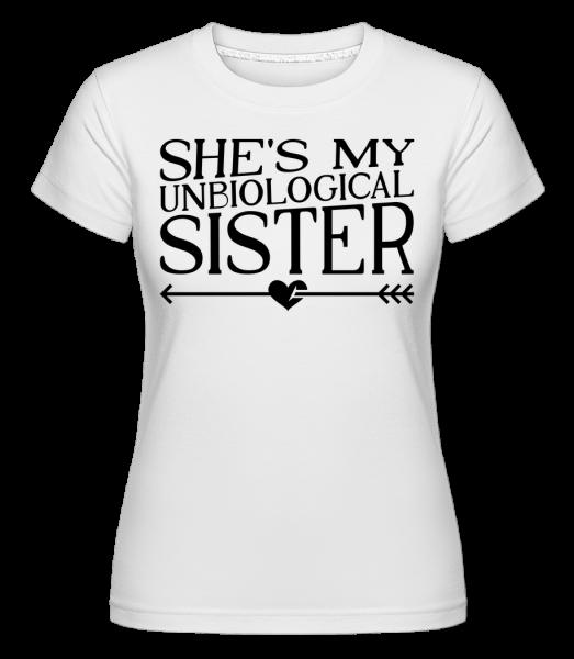 Unbiological Sister -  Shirtinator tričko pre dámy - Biela - Predné