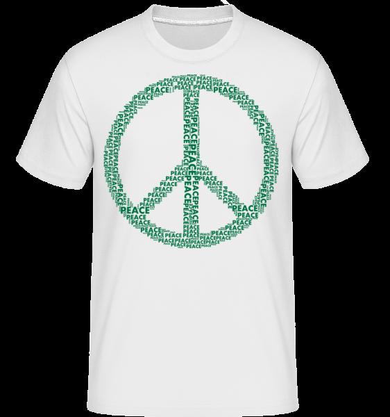 Znak mieru - Shirtinator tričko pre pánov - Biela - Predné