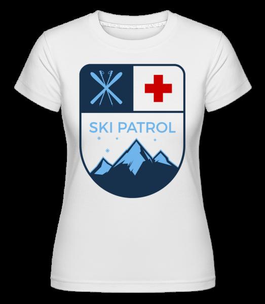 Ski Patrol Ikona -  Shirtinator tričko pre dámy - Biela - Predné