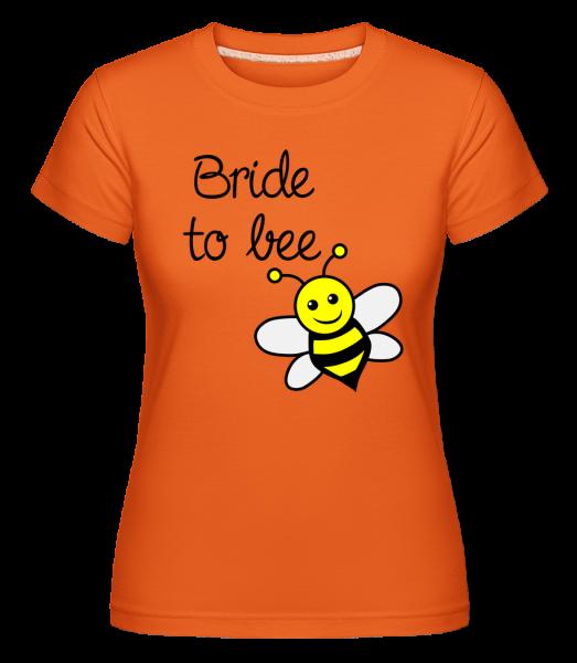 Nevesta na včelie -  Shirtinator tričko pre dámy - Oranžová - Predné