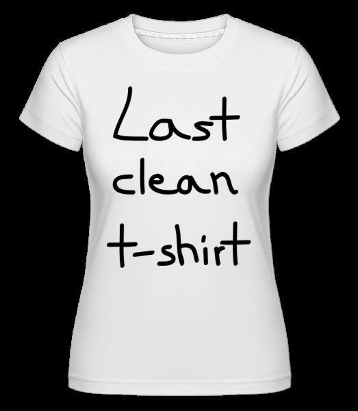Posledné Clean T-Shirt -  Shirtinator tričko pre dámy - Biela - Predné