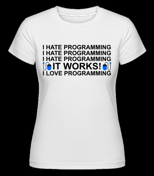 I Love Programming - Shirtinator tričko pre dámy - Biela - Predné