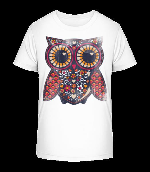 art Owl - Detské Premium Bio tričko - Biela - Predné