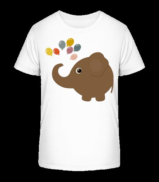 Deti Comic - Elephant - Detské Premium Bio tričko - Biela - Predné