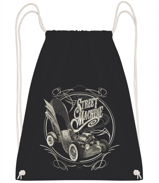 Street Machine - Drawstring batoh so šnúrkami - Čierna1 - Predné