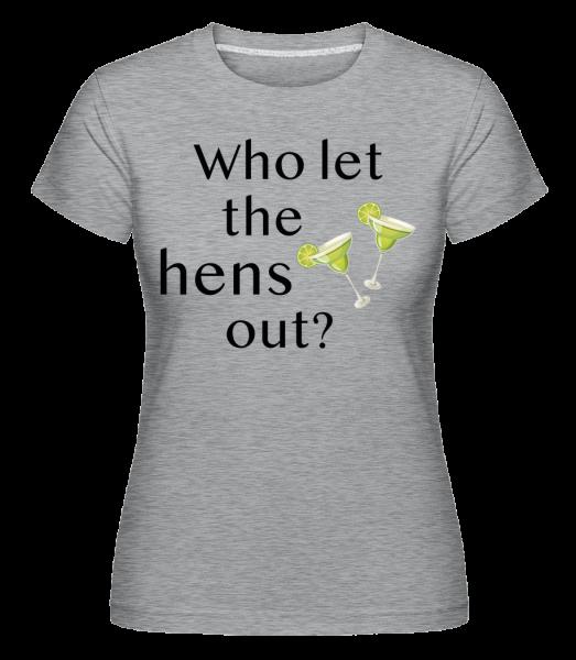 Who Let The Hens Out? - Shirtinator tričko pre dámy - Melírovo šedá - Predné