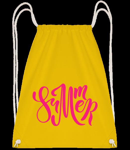 Pink Summer Sign - Drawstring batoh so šnúrkami - Žltá - Predné