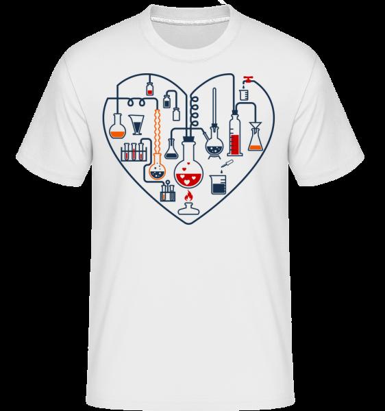 Science Láska -  Shirtinator tričko pre pánov - Biela - Predné