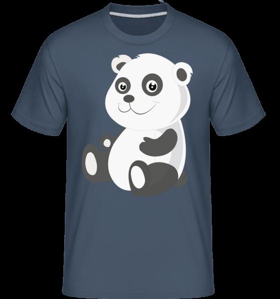 Panda Comic - Shirtinator tričko pre pánov - Džínsovina - Predné