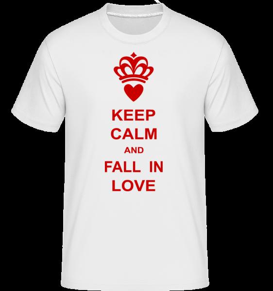 Zachovať pokoj a zamilovať - Shirtinator tričko pre pánov - Biela - Predné