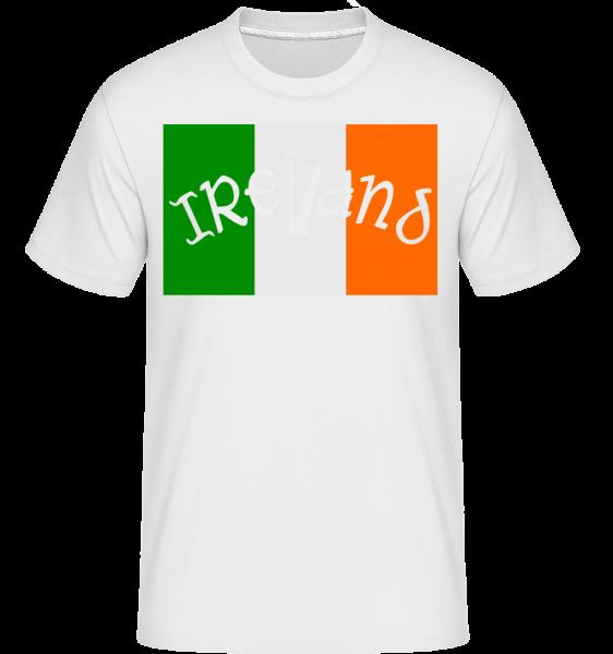 Ireland Flag -  Shirtinator tričko pre pánov - Biela - Predné