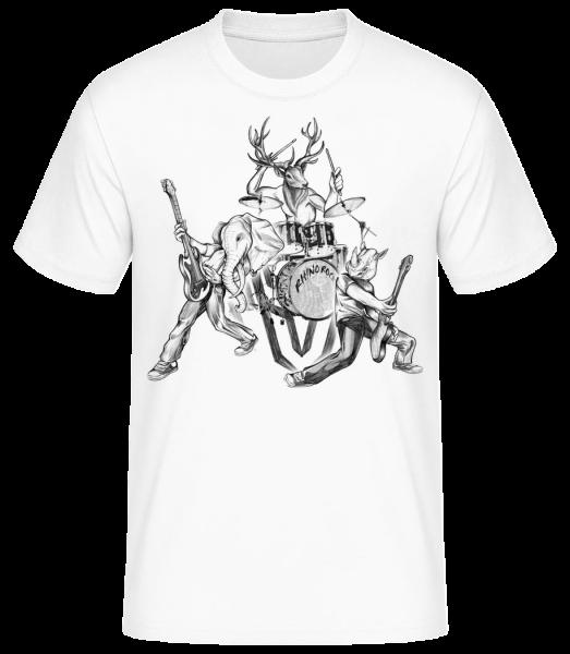 Wild pásmo - Pánske basic tričko - Biela - Predné