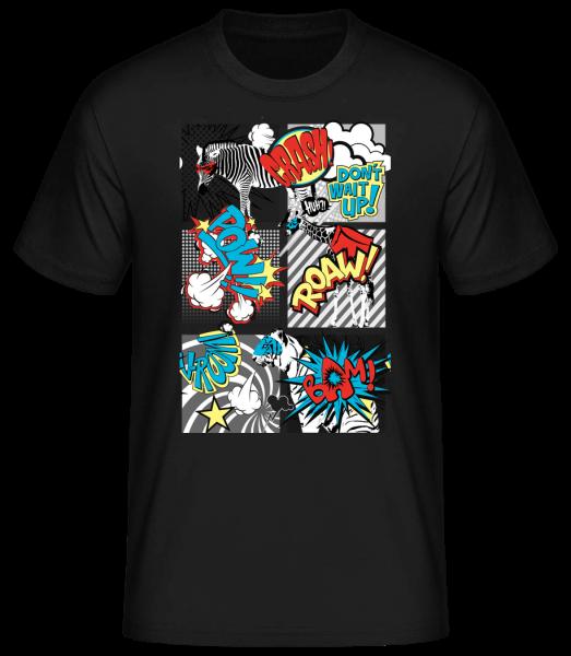 Kreslené zvieratá - Basic T-Shirt - Černá - Predné