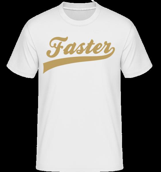 rýchlejší Stroke -  Shirtinator tričko pre pánov - Biela - Predné