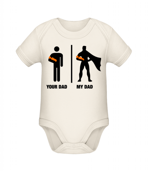 Váš otec táta - Bio body pre deti - Krémová - Predné